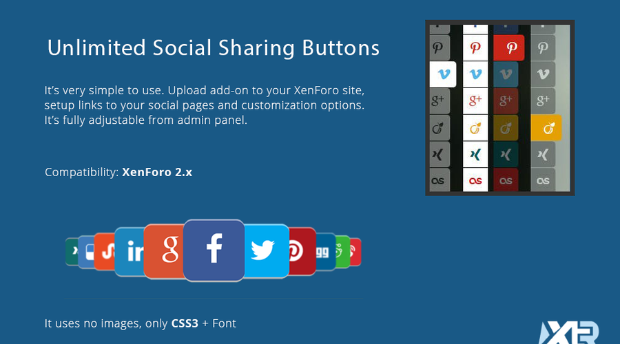 [XTR] Unlimited Social Sharing Buttons