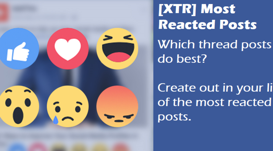 [XTR] Most Reacted Posts
